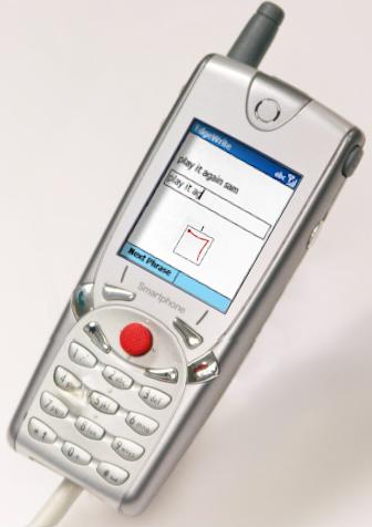Edge-write joystick input on mobile phone